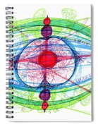 Abstract Pen Drawing Thirty-one Spiral Notebook