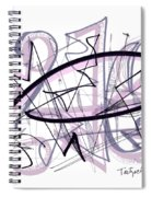Abstract Pen Drawing Thirty-six Spiral Notebook