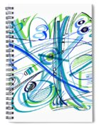 Abstract Pen Drawing Thirty-three Spiral Notebook