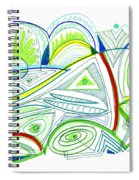 Abstract Pen Drawing Thirty-two Spiral Notebook