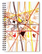 Abstract Pen Drawing Three Spiral Notebook