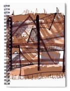 Abstract Pen Drawing Twelve Spiral Notebook