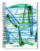 Abstract Pen Drawing Twenty-eight Spiral Notebook
