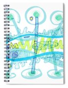 Abstract Pen Drawing Twenty-five Spiral Notebook