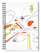 Abstract Pen Drawing Twenty-four Spiral Notebook