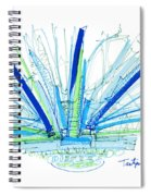 Abstract Pen Drawing Twenty-nine Spiral Notebook
