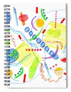 Abstract Pen Drawing Twenty-seven Spiral Notebook