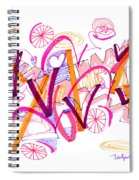 Abstract Pen Drawing Twenty-six Spiral Notebook