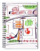 Abstract Pen Drawing Twenty-three Spiral Notebook