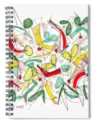 Abstract Pen Drawing Twenty-two Spiral Notebook