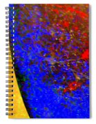 Abstract Photo Blue Yellow Spiral Notebook
