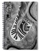 Piano Keys In A Saxophone 1 - Music In Motion Spiral Notebook
