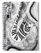 Piano Keys In A Saxophone 2 - Music In Motion Spiral Notebook