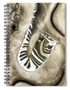 Piano Keys In A Saxophone 3 - Music In Motion Spiral Notebook