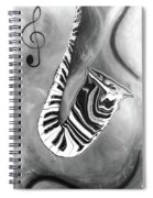 Piano Keys In A Saxophone 4 - Music In Motion Spiral Notebook