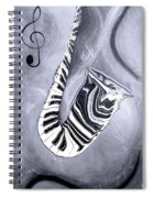 Piano Keys In A Saxophone 5 - Music In Motion Spiral Notebook
