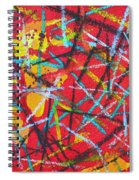 Abstract Pizza 2 Spiral Notebook