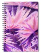 Abstract Purple Flowers Spiral Notebook
