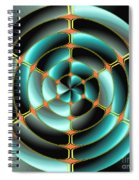 Abstract Radial Object Spiral Notebook