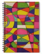 Abstract Rainbow Of Color Spiral Notebook