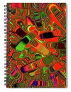 Abstract Rainbow Slider Explosion Spiral Notebook