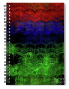 Abstract Rainbow Spiral Notebook