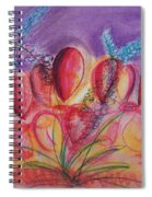 Abstract Red And Purple And Blue Spiral Notebook