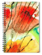 Abstract Red Art - The Promise - Sharon Cummings Spiral Notebook