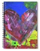 Abstract Red Heart Acrylic Painting Spiral Notebook