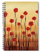 Abstract Red Poppy Field Spiral Notebook