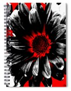 Abstract Red White And Black Daisy Spiral Notebook