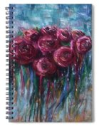 Abstract Roses Spiral Notebook