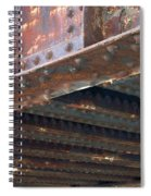 Abstract Rust 4 Spiral Notebook
