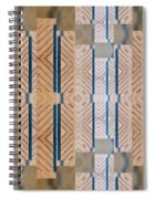 Wood And Blue Spiral Notebook