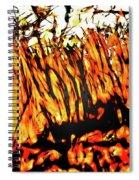 Abstract Saw Grass Iv Spiral Notebook