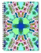 Abstract Seamless Pattern  - Blue Green Purple Pink White Spiral Notebook