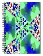 Abstract Seamless Pattern - Blue Green Turquoise Red White Spiral Notebook