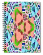 Abstract Seamless Pattern - Blue Pink Green Purple Spiral Notebook