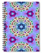 Abstract Seamless Pattern  - Blue Purple Pink Violet Lilac Orange Green Spiral Notebook