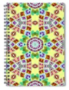 Abstract Seamless Pattern  - Yellow Brown Gray Purple Green Spiral Notebook