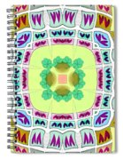 Abstract Seamless Pattern  - Yellow Green Blue Purple White Gray Spiral Notebook