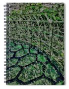 Abstract Shapes Stained Glass Spiral Notebook