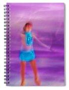 Abstract Skater Spiral Notebook