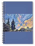 Abstract Sky Spiral Notebook