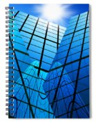 Abstract Skyscrapers Spiral Notebook