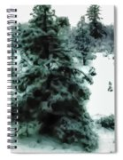 Abstract Snowy Trees Lighter Spiral Notebook
