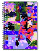 Abstract Sports Montage Spiral Notebook