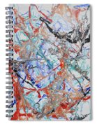 Abstract String Spiral Notebook