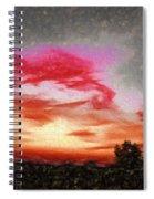 Abstract Sunset Spiral Notebook