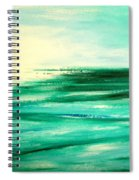 Abstract Sunset In Blue And Green Spiral Notebook